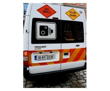Speed Camera Van Rear View